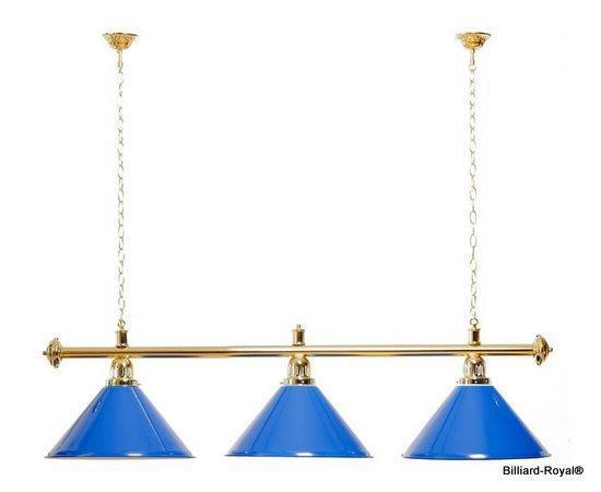 Billardlampen-Blau-Gold