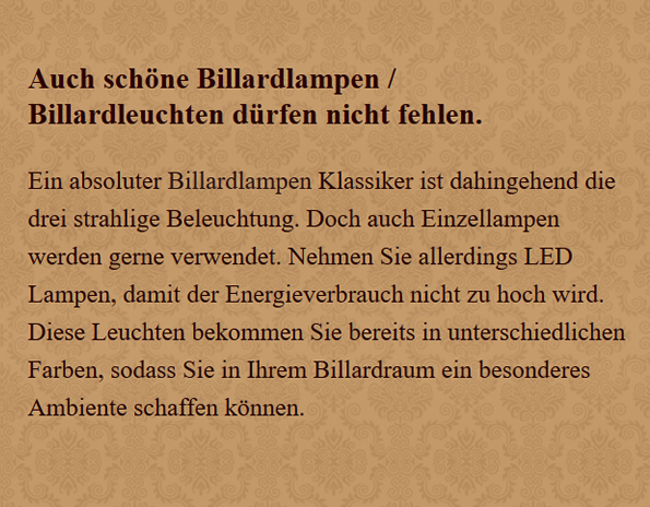 Billardlampen in  Bamberg