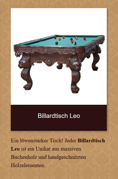 Billardtisch-Leo in  Brandenburg