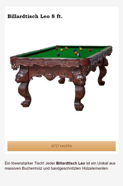 Billardtisch-Leo für  Homburg
