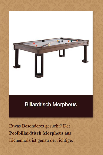 Billardtisch-Morpheus in  Brandenburg