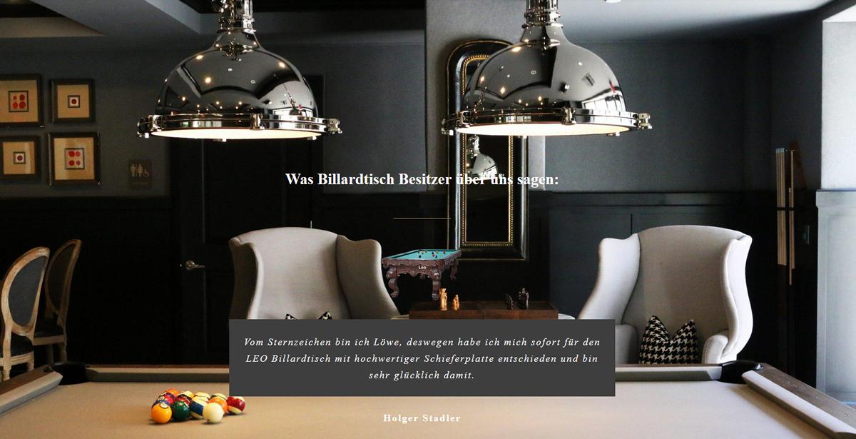 Billardtisch kaufen in  Oldenburg, Bad Zwischenahn, Edewecht, Hude (Oldb), Hatten, Berne, Elsfleth und Wardenburg, Rastede, Wiefelstede