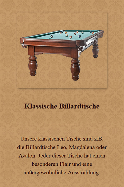 Klassische-Billardtische aus  Wesseling
