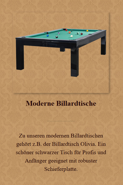 Moderne-Billardtische aus  Offenbach (Main)