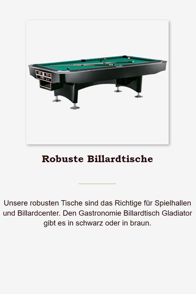 Robuste-Billardtische in 38640 Goslar